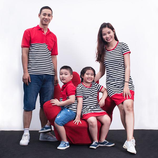 Áo váy cặp cho gia đình